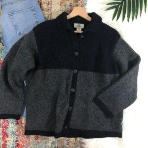 LL Bean • Wool Blend Button Down Cardigan Sweater